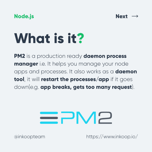 Node PM2 process manager