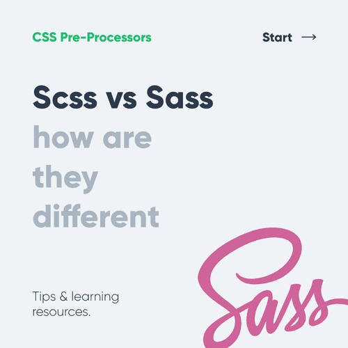 SCSS vs SASS - differences and syntax