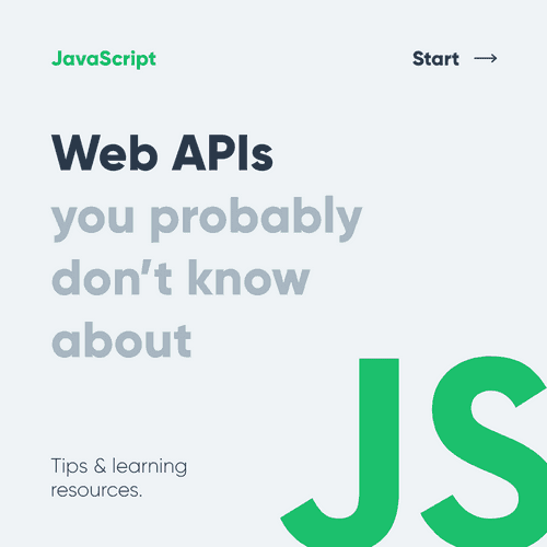 8 Web APIs - Indexed DB, Web SQL, Vibration, and more.